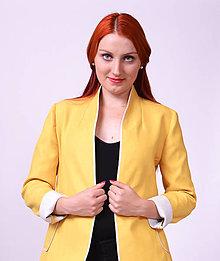 Kabáty - Horčicovo-žlté sako - 7461371_