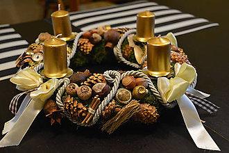 Dekorácie - Adventny veniec Rustikal - 7462460_