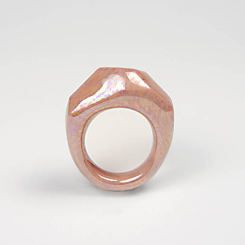 Prsteň ružový Krystalix / perleťový vzhľad