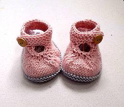 Topánočky - Papučky pletené z cukrovej vaty - 7464136  8da566a840b