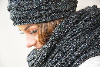 Ozdoby do vlasov - černá lurex - 7462825_
