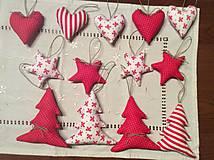 Dekorácie - Vianočné ozdoby - bielo - červené Vianoce - 7465329_