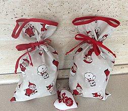 Úžitkový textil - mikulášske, vianočné vrecko III - 7463262_
