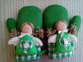 Úžitkový textil - anjelské chňapky - 7464144_