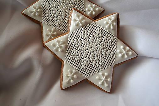 Dekorácie - Vianočné medovníky - hviezdy - 7465734_