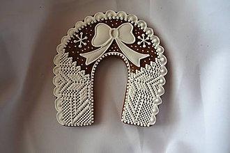 Dekorácie - Vianočné medovníky - podkovy - 7465960_