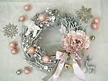 Dekorácie - Vianočný vintage veniec - 7465753_