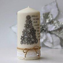 Svietidlá a sviečky - Dekoračná sviečka - vianočná I. - 7464873_