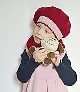 Detské čiapky - Pletená detská baretka - 7464560_
