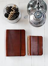 Papiernictvo - Kožený zápisník / karisblok A5 (BROWN) - 7467752_