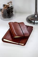 Papiernictvo - Kožený zápisník / karisblok A5 (BROWN) - 7467753_