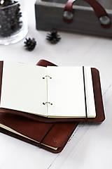 Papiernictvo - Kožený zápisník / karisblok A5 (BROWN) - 7467755_