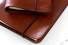 Papiernictvo - Kožený zápisník / karisblok A5 (BROWN) - 7467756_