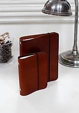 Papiernictvo - Kožený zápisník / karisblok A5 (BROWN) - 7467758_