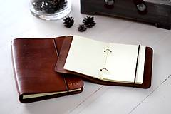 Papiernictvo - Kožený zápisník / karisblok A5 (BROWN) - 7467761_