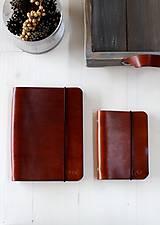 Papiernictvo - Kožený zápisník / karisblok A5 (BROWN) - 7467769_