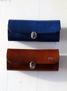 Taštičky - Kožené púzdro na okuliare /2 farebné verzie / - 7468260_