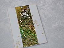 Papiernictvo - Pohľadnica - snehové vločky - 7463947_