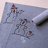 Úžitkový textil - SNĚHULÁCI PANÁCI - prostírání - 7463255_