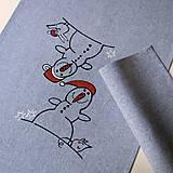 Úžitkový textil - SNĚHULÁCI - běhoun 40x135 - 7463310_