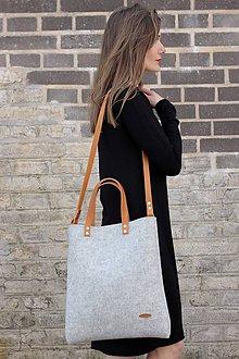 Kabelky - Crossbody plstená taška ze 100% vlněné plsti - 7467191_