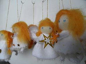 Dekorácie - anjelíci /aj/ na stromček - 7464230_