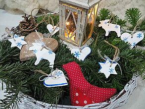 Dekorácie - Vianočné ozdoby - snehová vločka - 7466841_