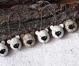 Dekorácie - Medvedie oriešky béžovo-hnedé - 7468042_