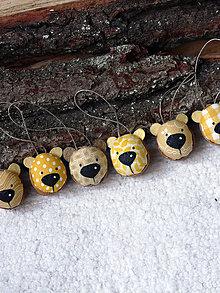 Dekorácie - Medvedie oriešky žlté - 7468068_