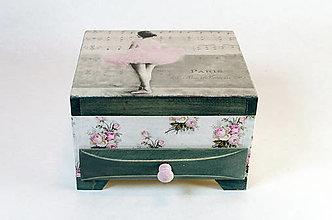 Krabičky - Šperkovnica BALETKA - 7462565_