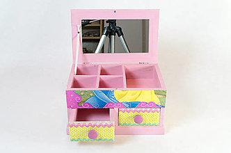 Krabičky - Šperkovnica so zrkadlom - 7465614_