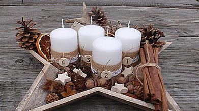 Svietidlá a sviečky - Adventné sviečky - 7463271_