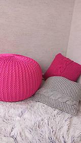 Úžitkový textil - Puf cyklaménovy - 7465441_