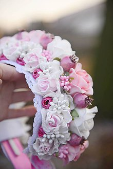 Ozdoby do vlasov - parta na čepčenie by michelle flowers - 7469226_