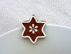 Odznaky/Brošne - Medovníková hviezdička - brošňa - 7471034_