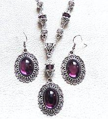 Sady šperkov - fialová trilógia - 7472265_