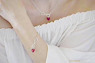 Sady šperkov - Happiness Swarovski Red súprava - 7472262_