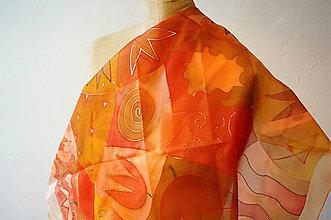 Šatky -  Oranžový tulips - 7469107_