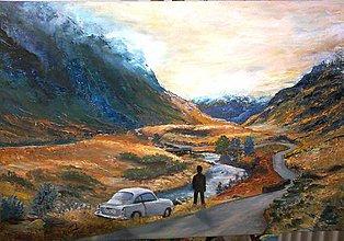 Obrazy - v škótskej vrchovine-  obraz na želanie - 7473773_