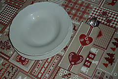 - Obrus vianočný patchwork + prestieranie - 7472380_