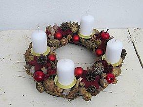 Dekorácie - Vianočný  adventný veniec - 7472967_