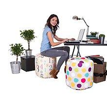 Úžitkový textil - Dizajnový taburet Takoy DOT 47x50 cm-výber zo 620 vzorov - 7470811_