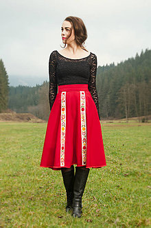 Sukne - Vyšívaná sukňa - 7470329_