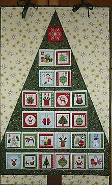 Dekorácie - Adventný kalendár - PREDANÝ (STROMČEK 4) - 7469348_
