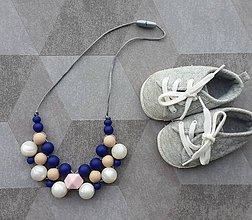 Náhrdelníky - Elegantný silikónový náhrdelník \