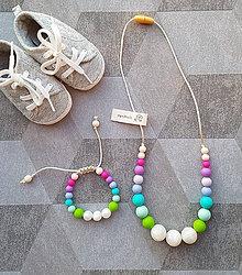 """Sady šperkov - Set silikónového náhrdelníka a náramku na žužlanie """"Liliputi Folk"""""""" - 7473975_"""
