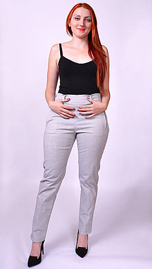 Nohavice - Úzke sivé nohavice - 7471533_