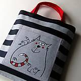 Nákupné tašky - PRUHOVANÁ - taška kanafaska - 7470386_