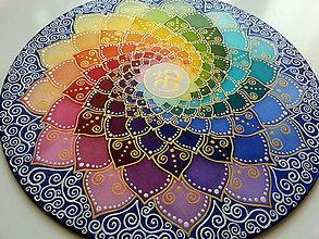 Dekorácie - Meditačná mandala ÓM - 7470476_