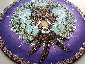 Dekorácie - Mandala Sova poznania a múdrosti - 7470661_